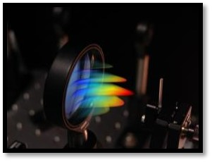Image of a colourful waveguide