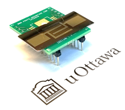 A circuit board next to the uOttawa logo