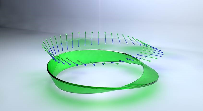 Observation of optical polarization Möbius strips
