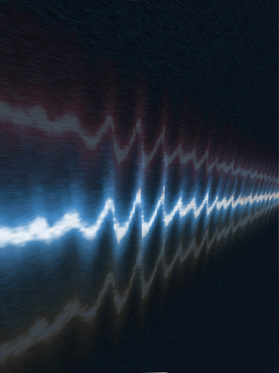 Image d'un oscilloscope à trace du champ électrique de quelques cycles d'une impulsion lumineuse de 800 nm