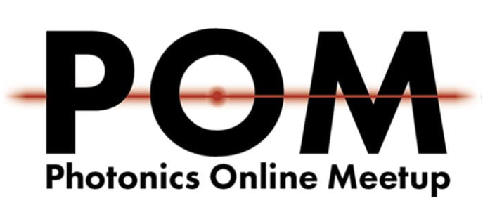 POM logo which is the letters POM with a red line through them