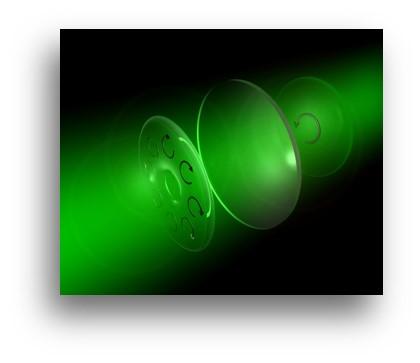 Image qui démontre comment fonctionne la Distribution de clé quantique (QKD)