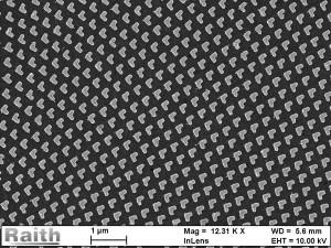 Image d'une métasurface plasmonique