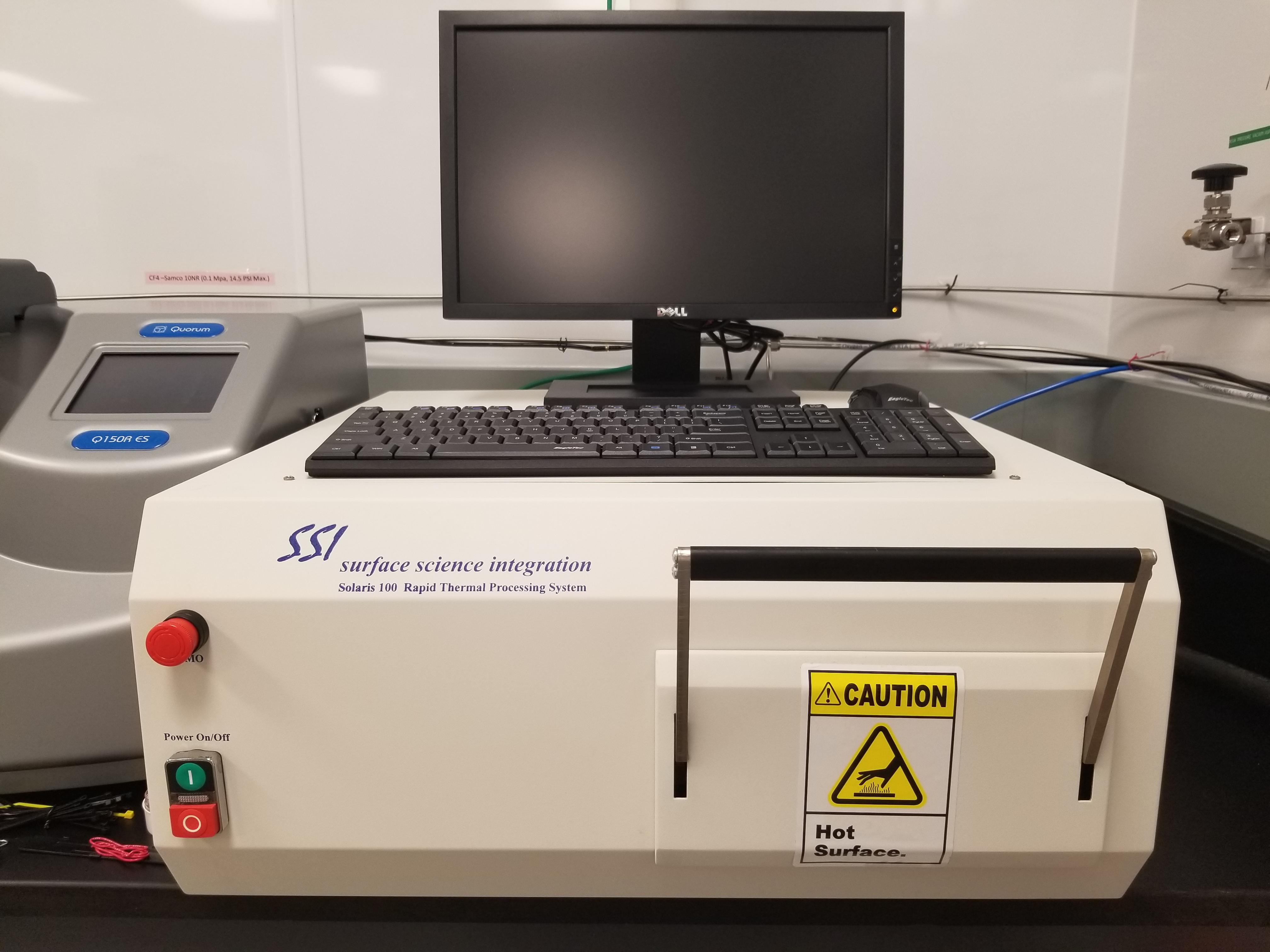 Photo de la système de RTR avec une ordinateur