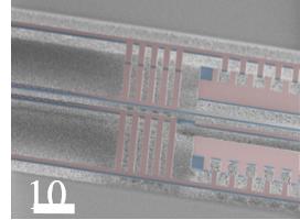 SEM of a nanosystem