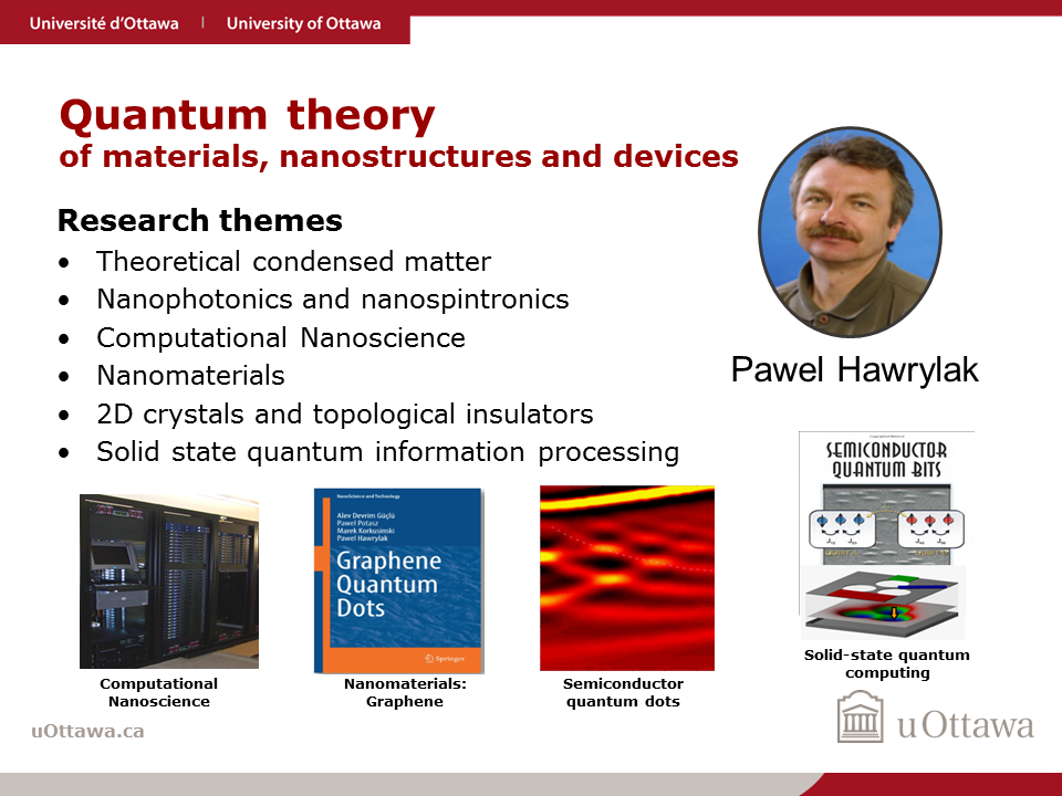 Pawel Hawrylak: Quantum theory of materials, nanostructures and devices