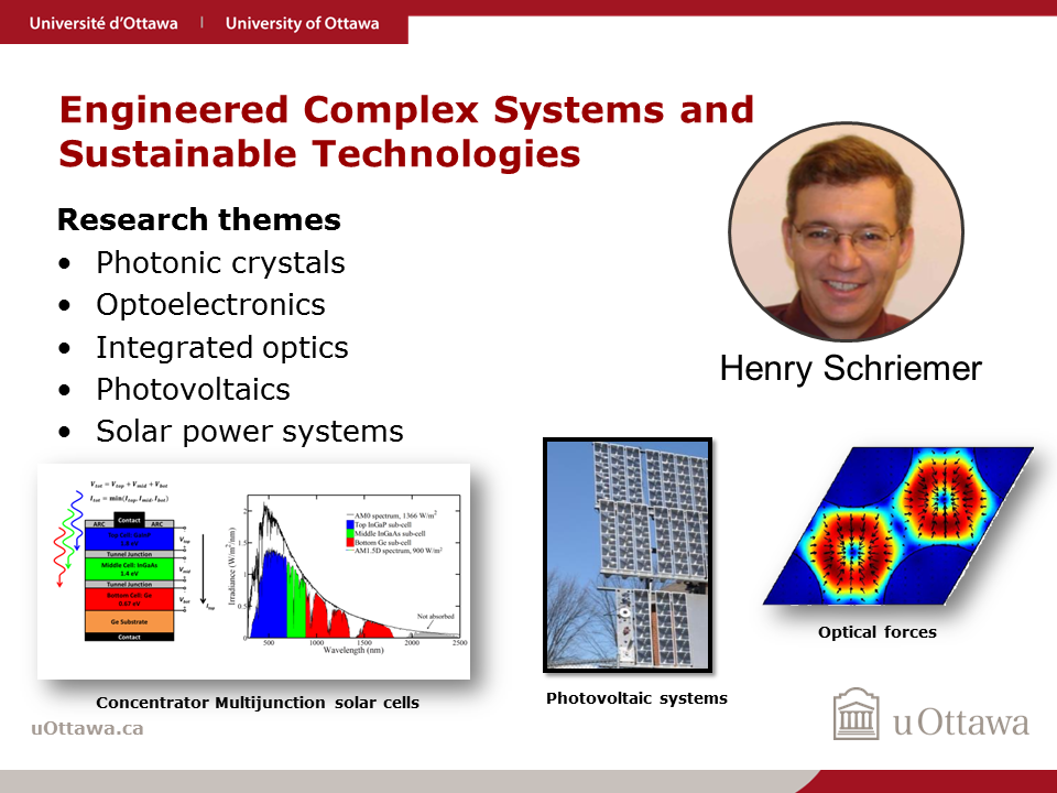 Henry Schriemer: Engineered Complex Systems and Sustainable Technologies