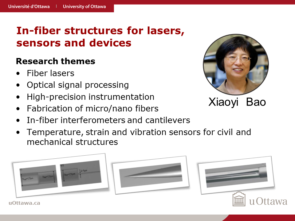 Xiaoyi Bao: In-fiber structures for lasers, sensors and devices