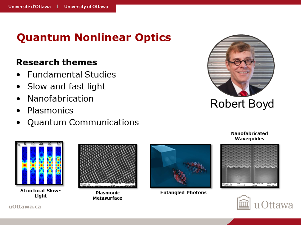Robert Boyd: Quantum Nonlinear Optics
