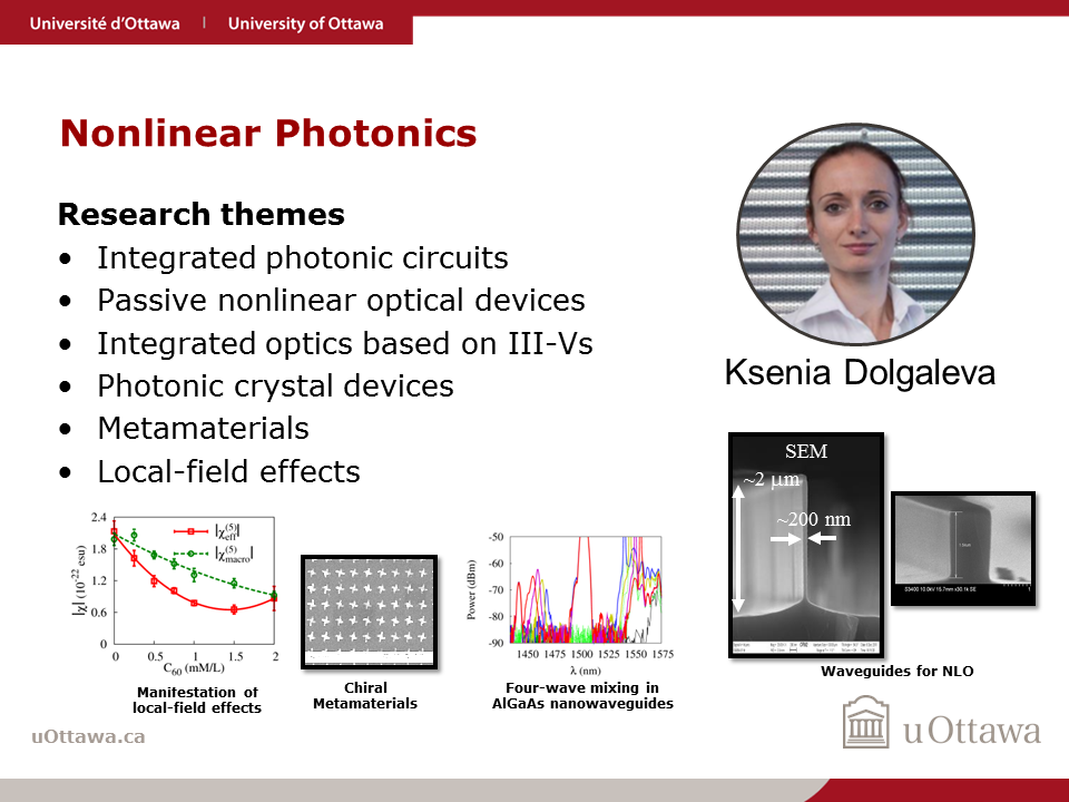 Ksenia Dolgaleva: Nonlinear Photonics