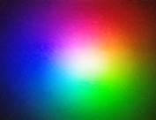 Un carré avec les différentes couleurs qui se déteint entre eux-mêmes