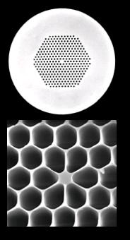 Image des sources des guides d'ondes des photons liés